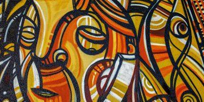 street artiste muraliste graffiti orange